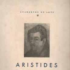 Libros de segunda mano: CUADERNOS DE ARTE 2. ENSAYO DE LEZAMA LIMA SOBRE ARISTIDES FERNANDEZ. HABANA. 1950. RUSTICA. 24X30CM. Lote 73636519