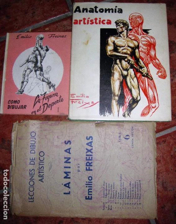 LOTE 3 LIBRO DIBUJO ANATOMIA 1969 . LAMINAS DIBUJO Nº6 . FIGURA EN EL DEPORTE 1966 EMILIO FREIXAS (Libros de Segunda Mano - Bellas artes, ocio y coleccionismo - Otros)