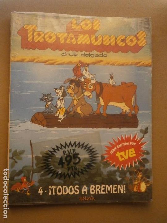 1 LIBRO AÑO 1989 LOS TROTAMUSICOS Nº 4 - ¡ TODOS A BREMEN ! -ANAYA + REGALO PLIEGO CROMOS SERIE (Libros de Segunda Mano - Literatura Infantil y Juvenil - Otros)