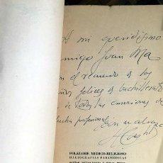Libros de segunda mano: CASTILLO DE LUCAS: FOLKLORE MÉDICO-RELIGIOSO (HAGIOGRAFIAS PARAMÉDICAS) 1ª ED. AUTÓGRAFO . Lote 73764027
