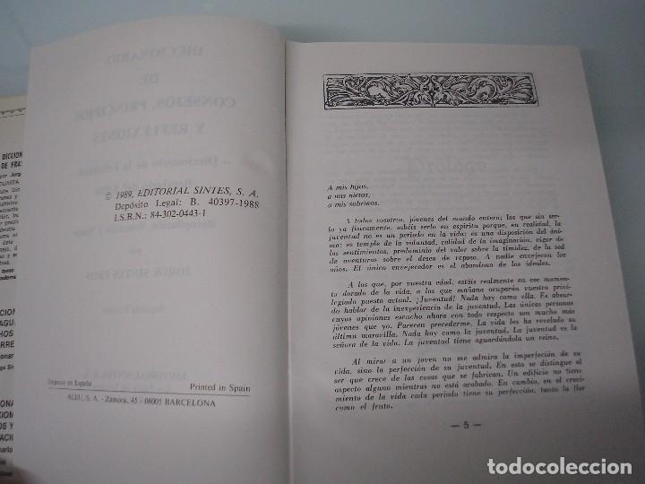 Libros de segunda mano: Diccionario de principios, consejos y meditaciones - De la felicidad - Editorial Sintes - 1989 - Foto 4 - 73960107