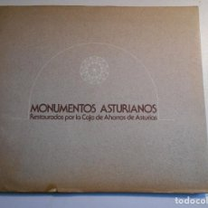 Libros de segunda mano: MONUMENTOS ASTURIANOS RESTAURADOS POR LA CAJA DE AHORROS DE ASTURIAS. AÑO 1978. RUSTICA CON SOLAPA. . Lote 74029503