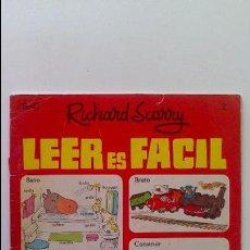 Libros de segunda mano: LEER ES FÁCIL, RICHARD SCARRY, EDITORIAL BRUGUERA, 1971. Lote 74320963