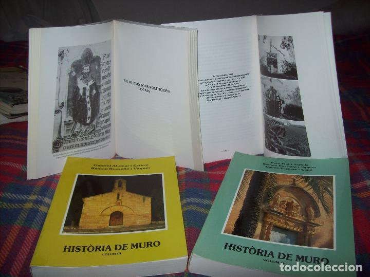 HISTÒRIA DE MURO. 4 VOLUMS.PREHISTÒRIA - 1229 / 1229-1349 / 1350 - 1516 /1516 - 1715 . MALLORCA (Libros de Segunda Mano - Historia - Otros)