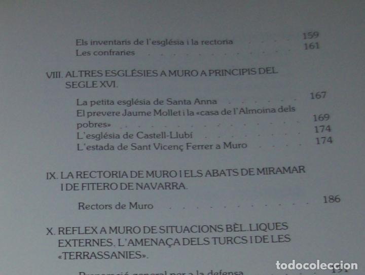 Libros de segunda mano: HISTÒRIA DE MURO. 4 VOLUMS.PREHISTÒRIA - 1229 / 1229-1349 / 1350 - 1516 /1516 - 1715 . MALLORCA - Foto 49 - 138065616