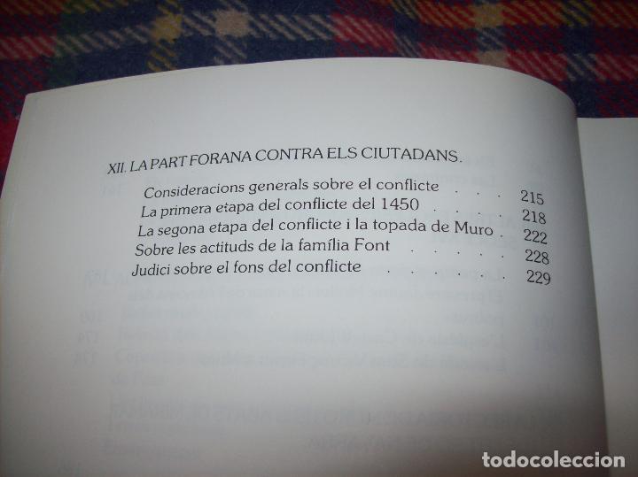 Libros de segunda mano: HISTÒRIA DE MURO. 4 VOLUMS.PREHISTÒRIA - 1229 / 1229-1349 / 1350 - 1516 /1516 - 1715 . MALLORCA - Foto 51 - 138065616