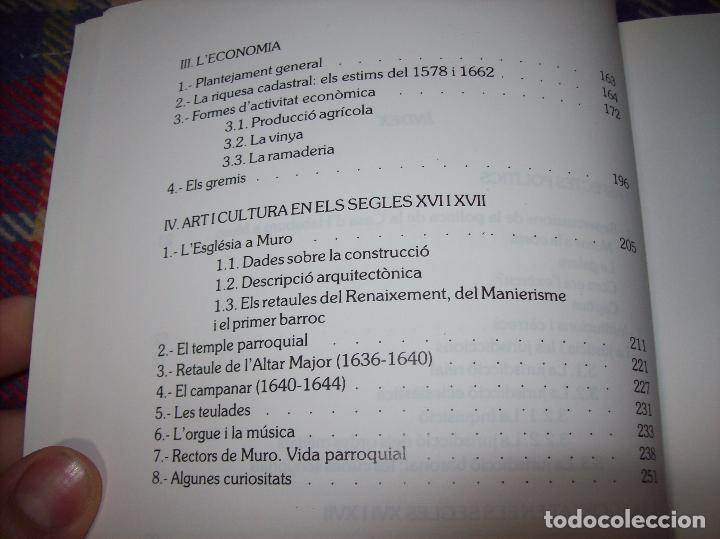 Libros de segunda mano: HISTÒRIA DE MURO. 4 VOLUMS.PREHISTÒRIA - 1229 / 1229-1349 / 1350 - 1516 /1516 - 1715 . MALLORCA - Foto 75 - 138065616