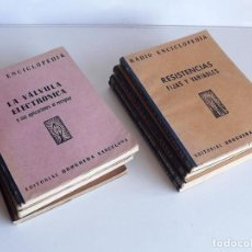 Libros de segunda mano: 9 LIBROS RADIO ENCICLOPEDIA, AÑOS 40. Lote 74597575