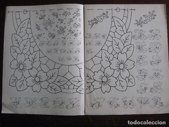 Revista Labores De Hogar Suplemento Dibujos Y Motivos Para Calcar Y Bordar Con Dmc