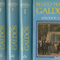 Libros de segunda mano: BENITO PÉREZ GALDÓS. EPISODIOS NACIONALES. 5 VOLS. MADRID, 1988.. Lote 74450603