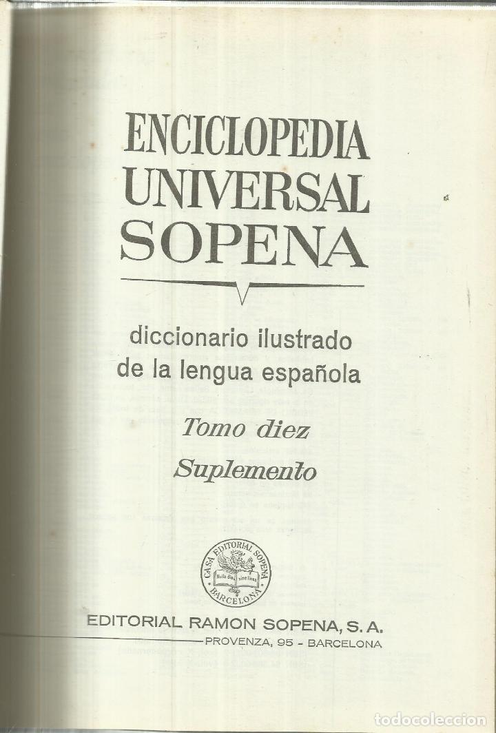 ENCICLOPEDIA UNIVERSAL SOPENA. TOMO 10. EDITORIAL RAMÓN SOPENA. BARCELONA. 1973 (Libros de Segunda Mano - Bellas artes, ocio y coleccionismo - Otros)