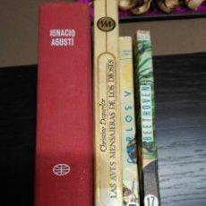 Libros de segunda mano: DESIDERIO, LAS AVES DE LOS DIOSES, CARLOS V, BEETHOVEN. Lote 74891623