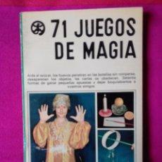 Libros de segunda mano: 71 JUEGOS DE MAGIA, KINKAJU, CHRISTIANE NEUVILLE, EDIT SGEL 1976. MUY DIFICIL. Lote 75020911