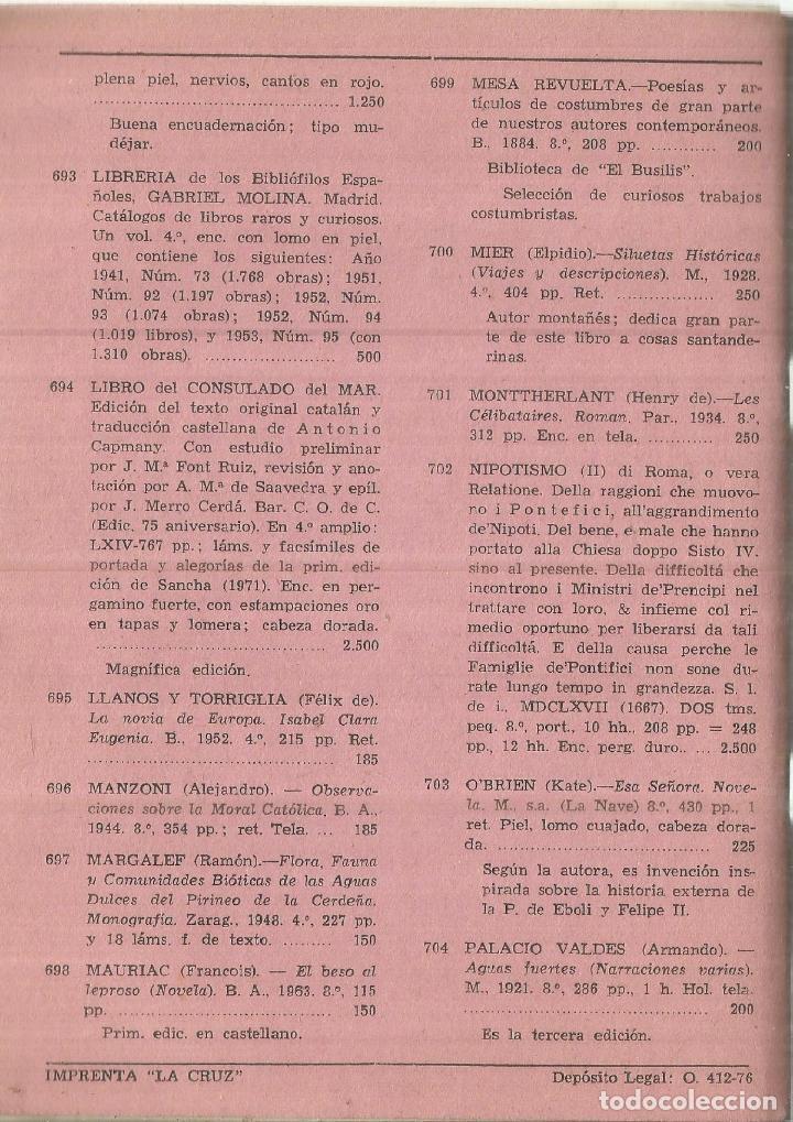 Libros de segunda mano: CATÁLOGO 33 DE LIBROS RAROS, CURIOSOS, EDICIONES AGOTADAS Y OTROS. LIBRERIA OJANGUREN. OVIEDO. 1976 - Foto 2 - 75577059
