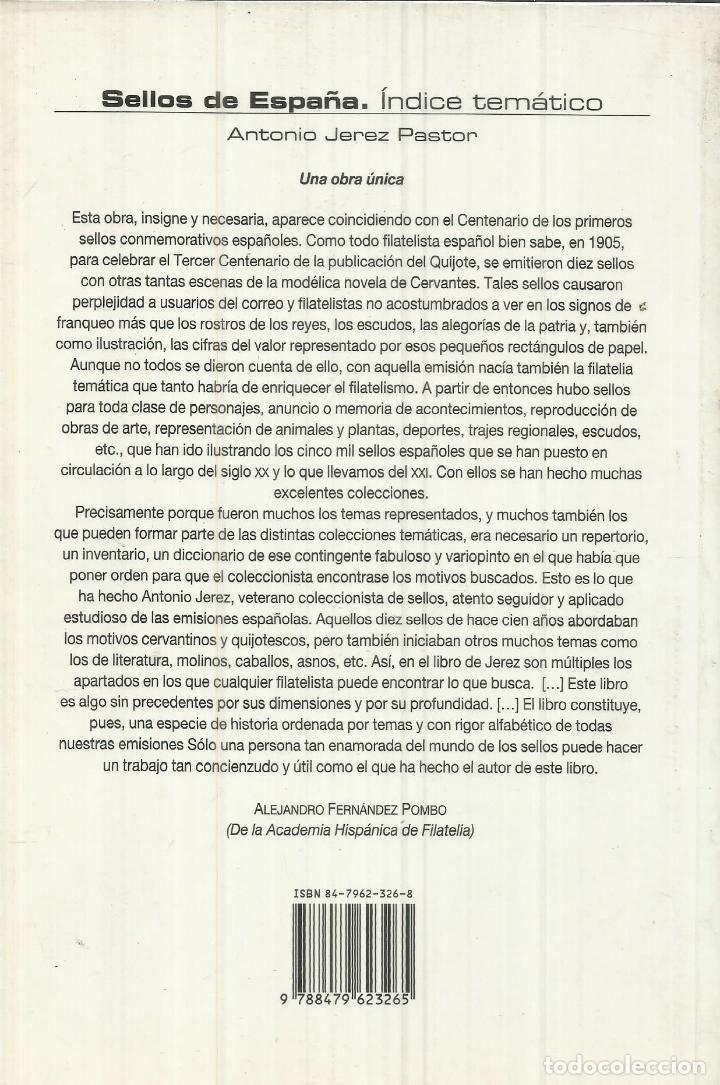 Libros de segunda mano: SELLOS DE ESPAÑA. ÍNDICE TEMÁTICO 2005. ANTONIO JEREZ PASTOR.. EDICIONES VERBUM - Foto 3 - 75580351