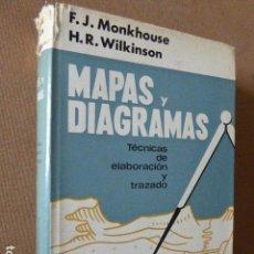 Libros de segunda mano: MAPAS Y DIAGRAMAS. TECNICAS DE ELABORACION Y TRAZADO. MONKHOUSE - WILKINSON. ED. OIKOS-TAU, 1966. Lote 76438655