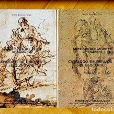 Libros de segunda mano: CATÁLOGO DE DIBUJOS II (S XVIII) TOMOS I Y II - MUSEO DE BELLAS ARTES DE VALENCIA - ADELA ESPINÓS. Lote 76484747