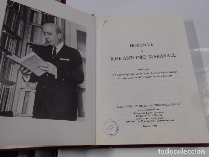 Libros de segunda mano: HOMENAJE A JOSÉ ANTONIO MARAVALL - 3 TOMOS - CENTRO DE INVESTIGACIONES SOCIOLÓGICAS. TDK41 - Foto 2 - 76530867
