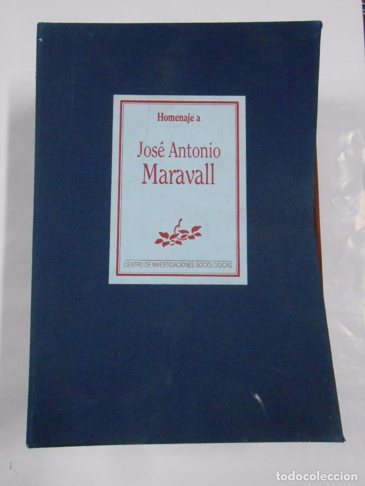 Libros de segunda mano: HOMENAJE A JOSÉ ANTONIO MARAVALL - 3 TOMOS - CENTRO DE INVESTIGACIONES SOCIOLÓGICAS. TDK41 - Foto 4 - 76530867