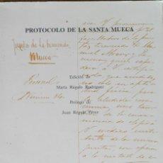 Libros de segunda mano: PROTOCOLO DE LA SANTA MUECA. ANTROPOLOGÍA. ETNOGRAFÍA.. SANTA CRUZ DE LA PALMA.. Lote 76590115