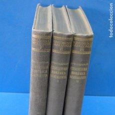 Second hand books: L'ESCULTURA ROMÀNICA A CATALUNYA. VOLS. I, II Y II (OBRA COMPLETA).-PUIG I CADAFALCH, JOSEP.. Lote 76750995