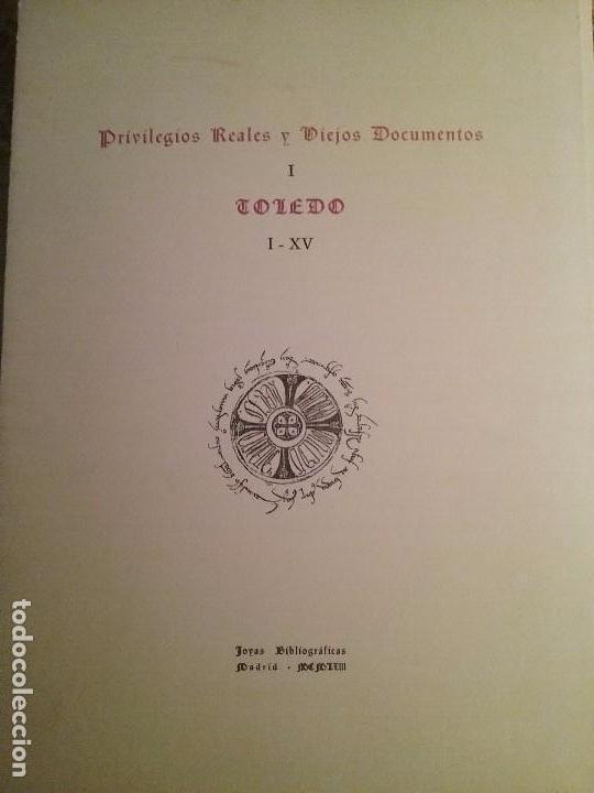 PRIVILEGIOS REALES Y VIEJOS DOCUMENTOS TOLEDO I-XV. MADRID 1963 (Libros de Segunda Mano - Historia - Otros)