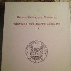 Libros de segunda mano: ANTIGUOS PRIVILEGIOS Y DOCUMENTOS. SANTIAGO DEL NUEVO EXTREMO. JOYAS BIBLIOGRAFICAS MADRID 1970.. Lote 77442513