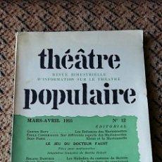 Libros de segunda mano: REVISTA THEATRE POPULAIRE. MARZO ABRIL 1955 Nº 12. Lote 77594469