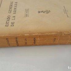 Libros de segunda mano: ESTADO GENERAL DE LA ARMADA - AÑO 1972. Lote 77734317