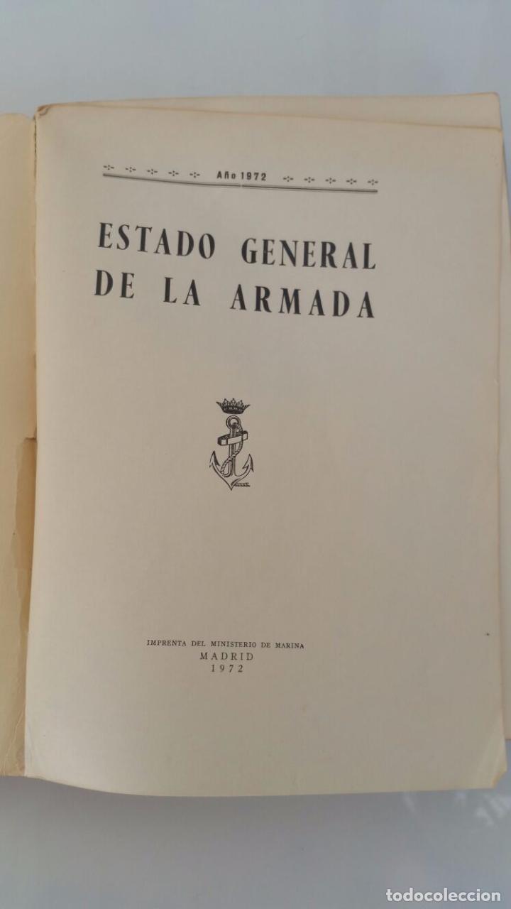 Libros de segunda mano: ESTADO GENERAL DE LA ARMADA - AÑO 1972 - Foto 5 - 77734317