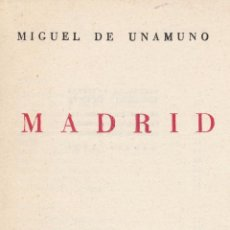 Libros de segunda mano: MIGUEL DE UNAMUNO. MADRID. MADRID, 1950.. Lote 78634713