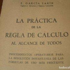 Libros de segunda mano: LA PRÁCTICA DE LA REGLA DE CÁLCULO AL ALCANCE DE TODOS - 1943 SLIDE RULE RECHENSCHIEBER. Lote 78808717
