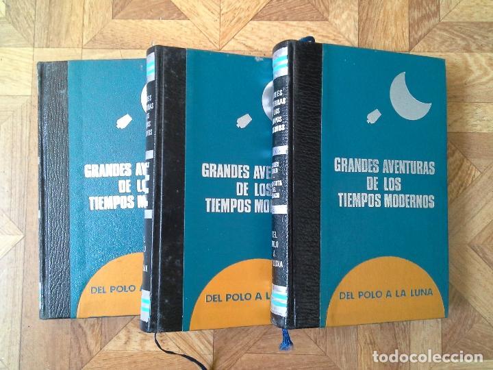 Libros de segunda mano: GRANDES AVENTURAS DE LOS TIEMPOS MODERNOS - DEL POLO A LA LUNA - 3 TOMOS - Foto 2 - 79090609