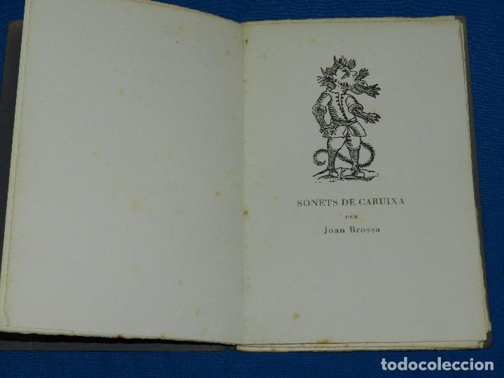 JOAN BROSSA - SONETS DE CARUIXA (EDICION DE 70 EJEMPLARES PAPEL DE HILO) JOAN PONÇ, TAPIES, CUIXART (Libros de Segunda Mano - Bellas artes, ocio y coleccionismo - Otros)