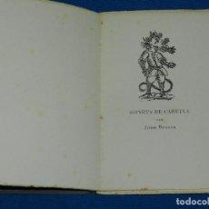 Libros de segunda mano: JOAN BROSSA - SONETS DE CARUIXA (EDICION DE 70 EJEMPLARES PAPEL DE HILO) JOAN PONÇ, TAPIES, CUIXART. Lote 79148141