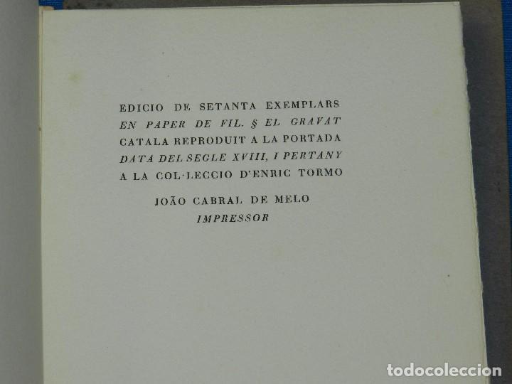 Libros de segunda mano: JOAN BROSSA - SONETS DE CARUIXA (EDICION DE 70 EJEMPLARES PAPEL DE HILO) JOAN PONÇ, TAPIES, CUIXART - Foto 4 - 79148141