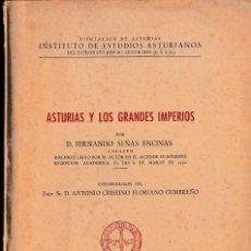 Libros de segunda mano: ASTURIAS Y LOS GRANDES IMPERIOS (F. SEÑAS 1952) SIN USAR. Lote 79569733
