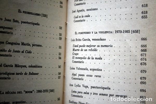 Libros de segunda mano: EL CUENTO HISPANOAMERICANO - Antología Crítico - Histórica - SEYMOUR MENTON - FCE - Foto 4 - 80064221