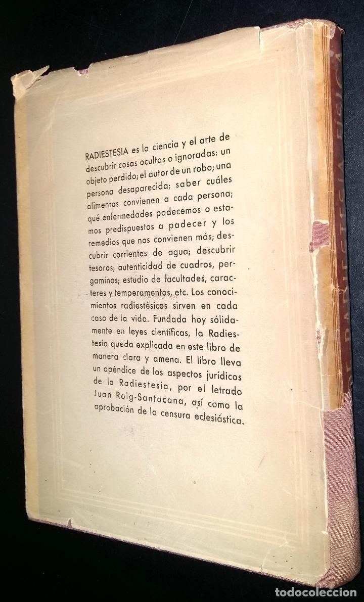 Libros de segunda mano: tratado de radiestesia fisica / jean charloteaux - Foto 5 - 80222365