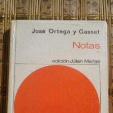 Libros de segunda mano: NOTAS - JOSE ORTEGA Y GASSET. Lote 80612790