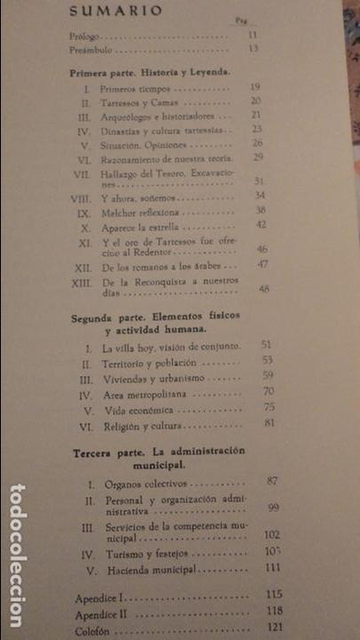 Libros de segunda mano: MANUEL ALARCON MARTIN.CAMAS EN LOS LIMITES DE TARTESOS.AYUNTAMIENTO CAMAS.SEVILLA.1971 - Foto 4 - 80669014