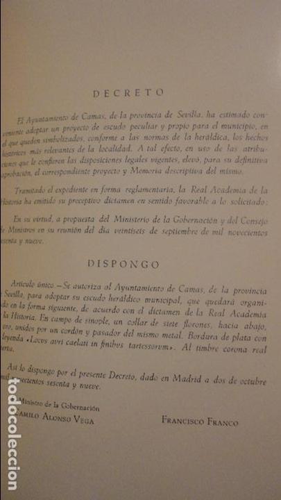 Libros de segunda mano: MANUEL ALARCON MARTIN.CAMAS EN LOS LIMITES DE TARTESOS.AYUNTAMIENTO CAMAS.SEVILLA.1971 - Foto 5 - 80669014