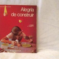 Libros de segunda mano: COLECCION COMO HACER...ALEGRÍA DE CONSTRUIR...EDITORIAL KAPELUSZ. Lote 80675030