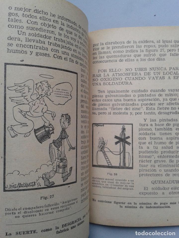 Libros de segunda mano: Manual de Seguridad para la soldadura eléctrica. Estebán Salinas Salazar. Año 1955. - Foto 4 - 80724498