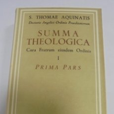 Libros de segunda mano: SUMMA THEOLOGIAE. I. PRIMA PARS. 3º EDICION. 1961. AUTORES CRISTIANOS. Lote 117502751