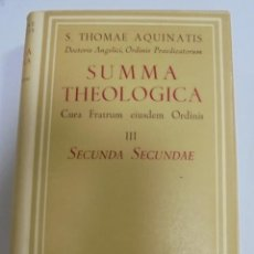 Libros de segunda mano: SUMA TEOLOGICA. SANTO TOMAS DE AQUINO. TOMO III (2º). 1963. AUTORES CRISTIANOS. 3º EDICION. Lote 117502898