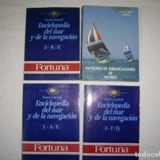 Libros de segunda mano: ..ENCICLOPENDIA DEL MAR Y DE LA NAVEGACION ( TRES LIBROS)..PATRON DE EMBARCACIONES DE RECREO. . Lote 80822819