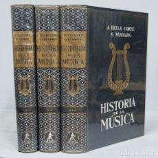 Libros de segunda mano: HISTORIA DE LA MUSICA. VV.AA. 3 TOMOS. COMPLETA. Lote 80837483