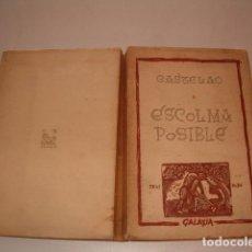 Libros de segunda mano: CASTELAO. ESCOLMA POSIBLE. RM79702. . Lote 81995100