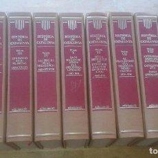 Libros de segunda mano: PIERRE VILAR (DIR.) - HISTÒRIA DE CATALUNYA - EDICIONS 62 [10 TOMS; OBRA COMPLETA]. Lote 81852784